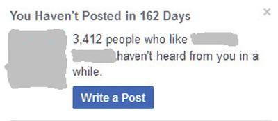 Abandoning Social Media Posting